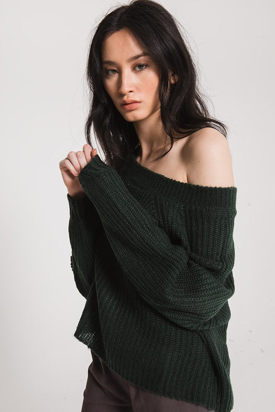 rag poets Off Shoulder Sweater - Front Full Image