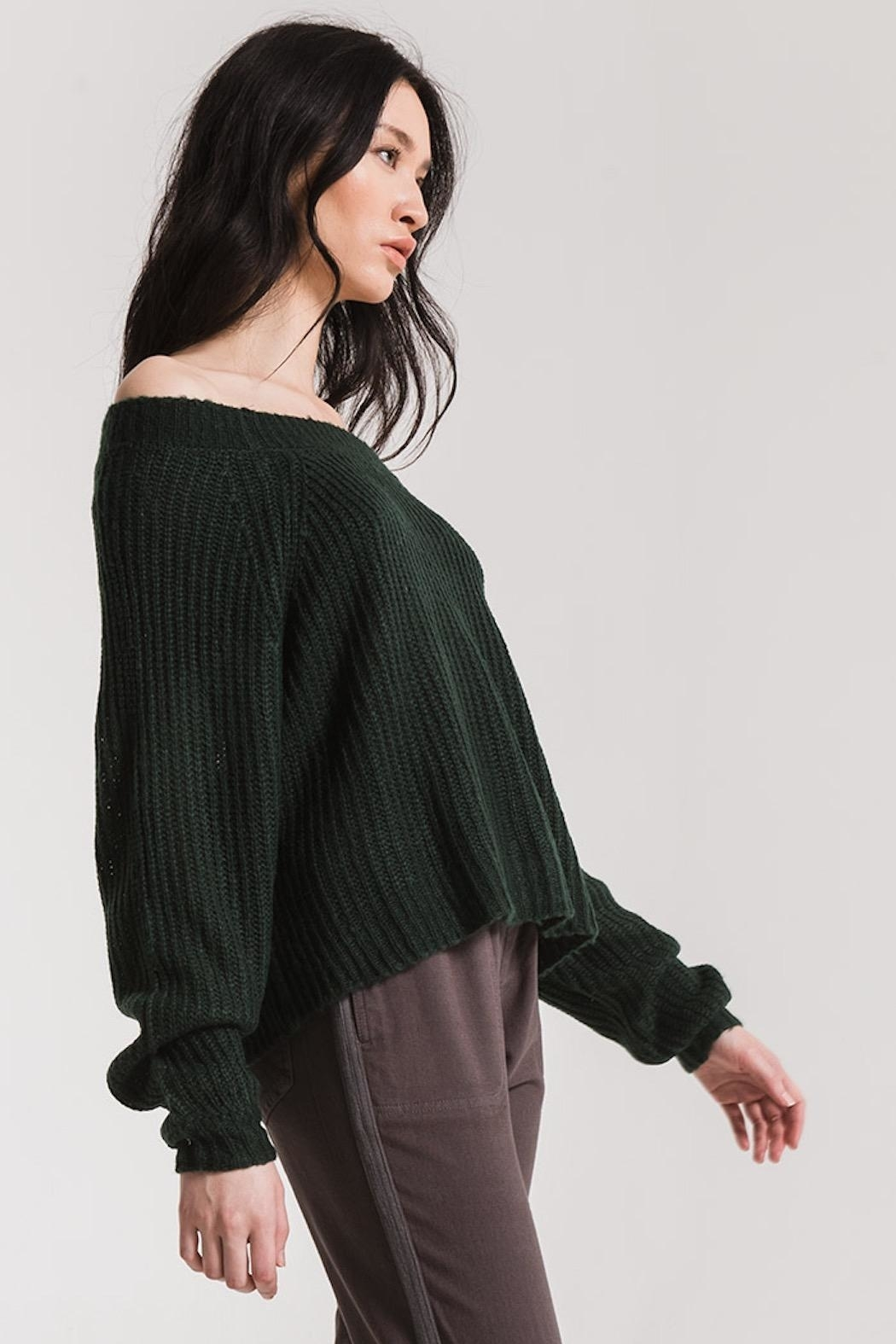 rag poets Off Shoulder Sweater - Side Cropped Image