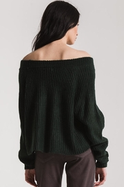 rag poets Off Shoulder Sweater - Back cropped