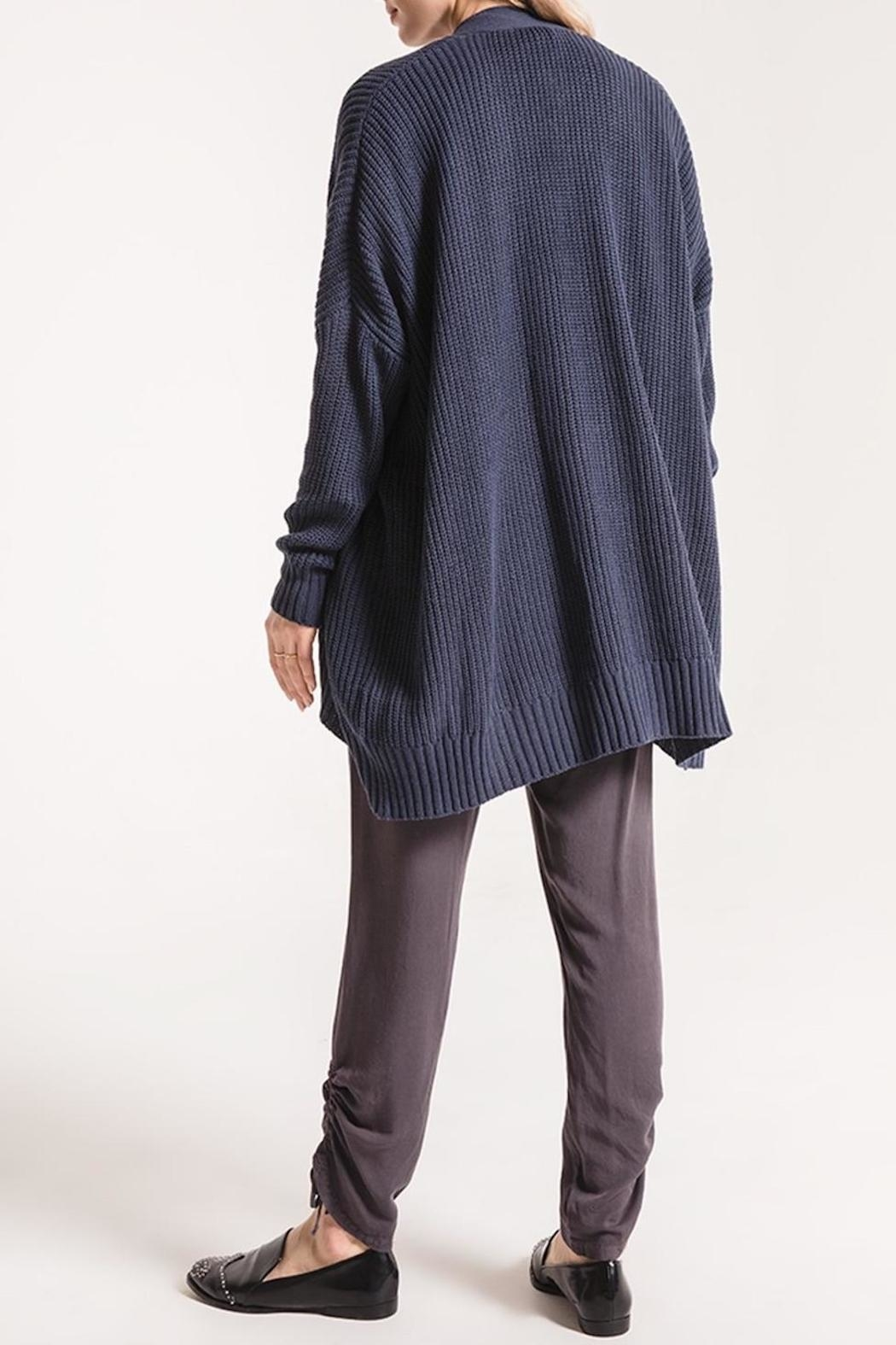 rag poets Oversized Open Cardigan - Side Cropped Image