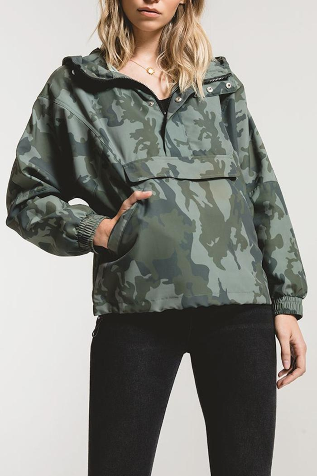 rag poets Parma Rain Jacket - Front Cropped Image