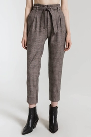 rag poets Plaid Belted Trousers - Product Mini Image