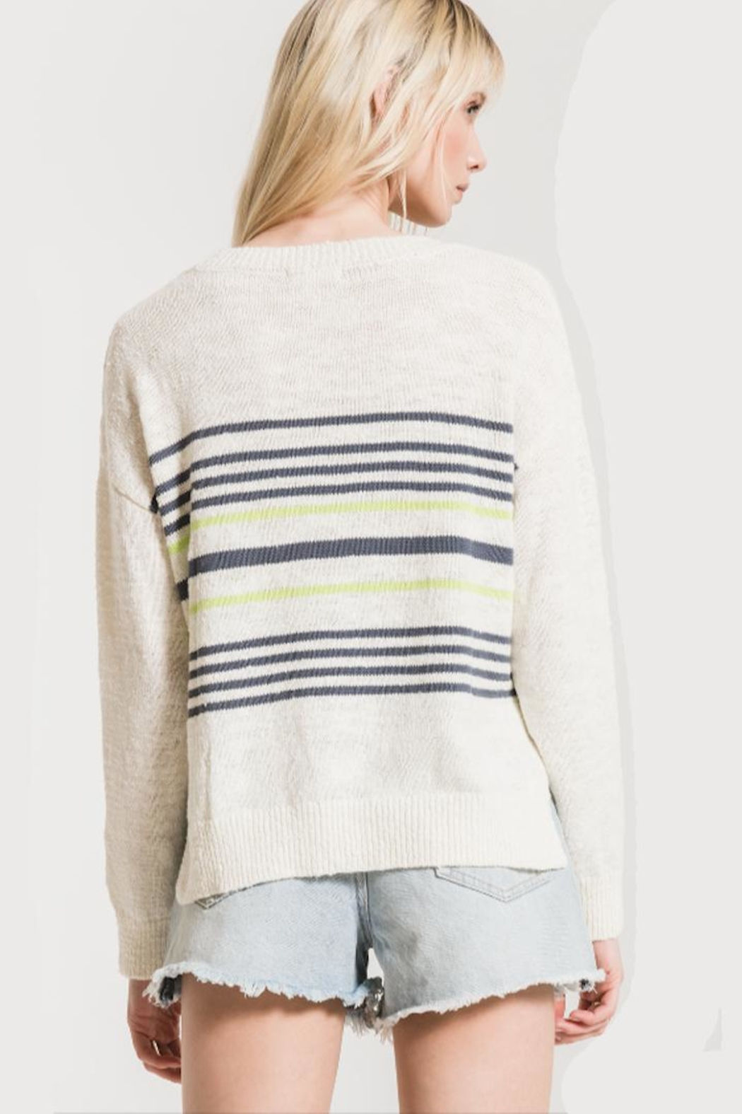 rag poets Pop-Of Color Sweater - Front Full Image
