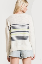 rag poets Pop-Of Color Sweater - Front full body
