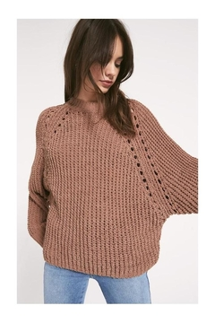 rag poets Promenade Sweater In Chestnut - Product List Image