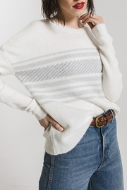 rag poets Rebekka Striped Sweater - Front full body
