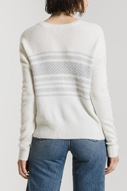 rag poets Rebekka Striped Sweater - Back cropped