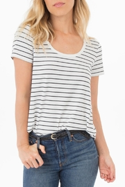 rag poets Ribbed Knit-Stripe Tee - Front cropped