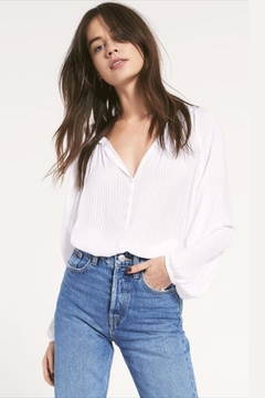 rag poets Sheer Striped Blouse - Product List Image