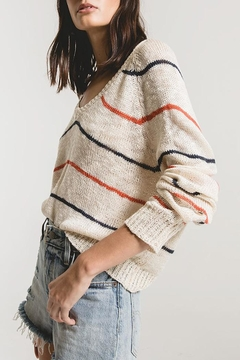 rag poets Sicily Striped Sweater - Alternate List Image