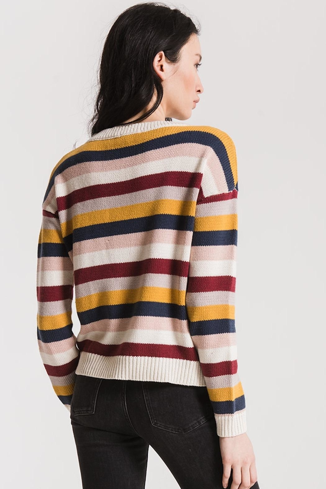rag poets Smith Striped Sweater - Side Cropped Image
