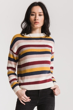 rag poets Smith Striped Sweater - Product List Image