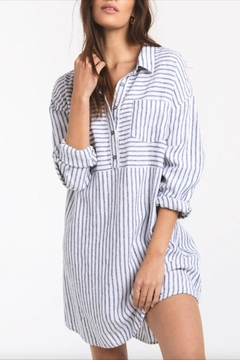 Shoptiques Product: Striped Button-Front Tunic