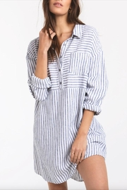 rag poets Striped Button-Front Tunic - Front cropped