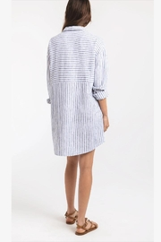 rag poets Striped Button-Front Tunic - Back cropped