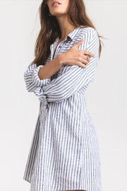 rag poets Striped Button-Front Tunic - Side cropped