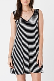 rag poets Striped Tank Dress - Front cropped