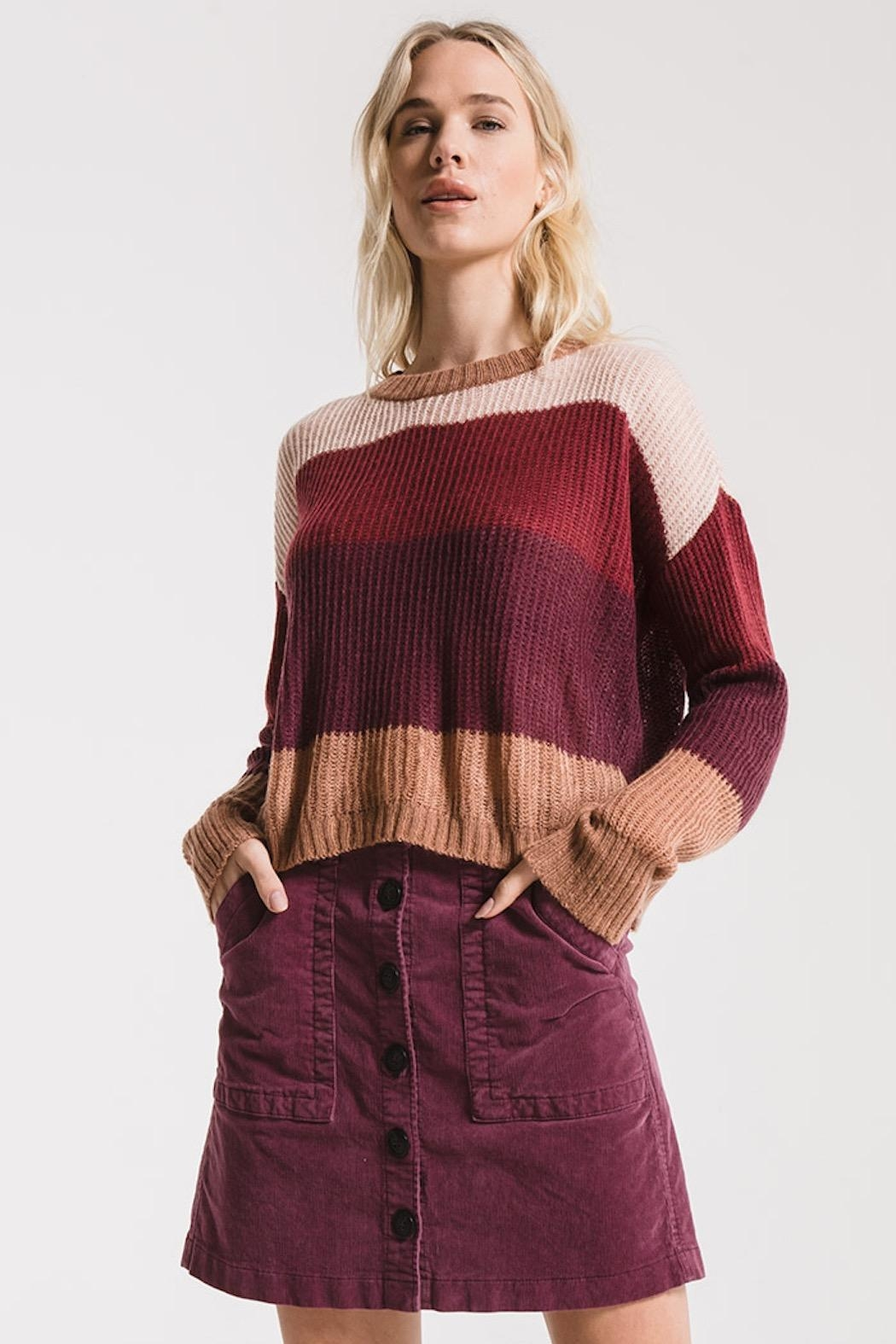 rag poets Striped Warren Sweater - Main Image