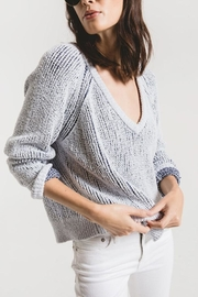rag poets Two-Tone V-Neck Sweater - Back cropped