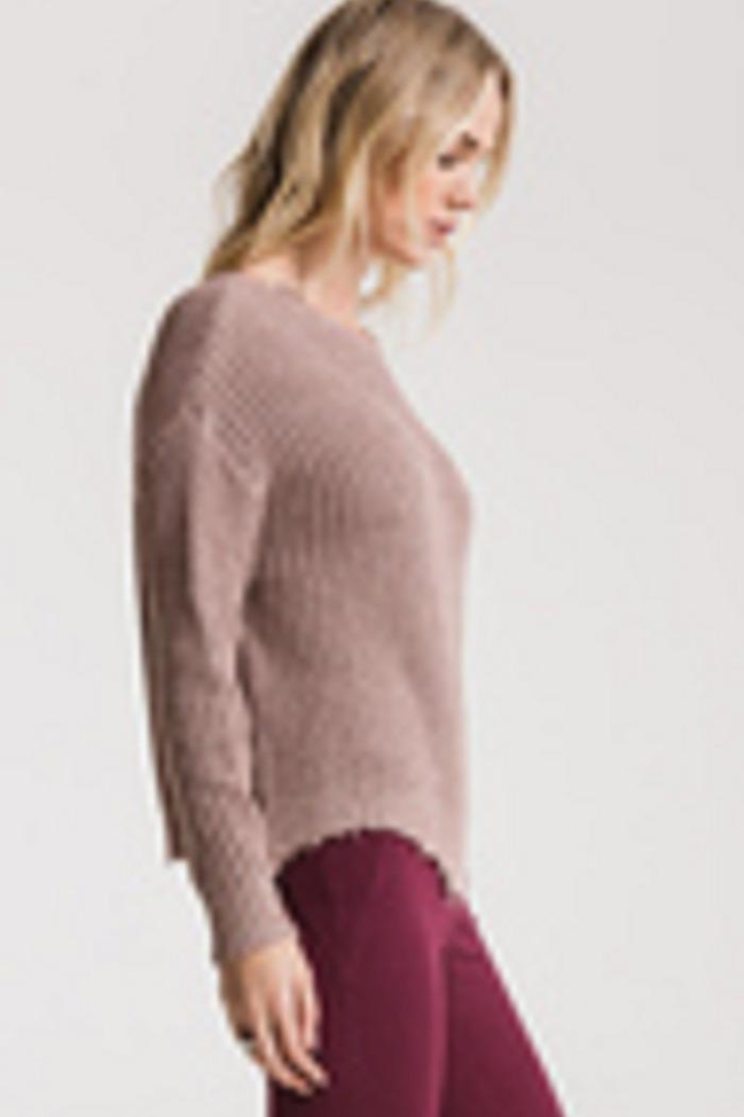 rag poets Valle-Distressed Sweater Mauve - Front Full Image