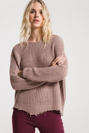 rag poets Valle-Distressed Sweater Mauve - Front cropped