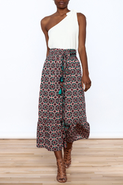 Raga Boho Print Midi Skirt - Front full body