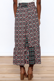 Raga Boho Print Midi Skirt - Back cropped