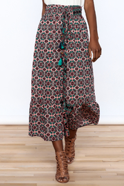 Raga Boho Print Midi Skirt - Product Mini Image