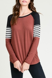 vanilla bay Raglan Color-Block Top - Product Mini Image