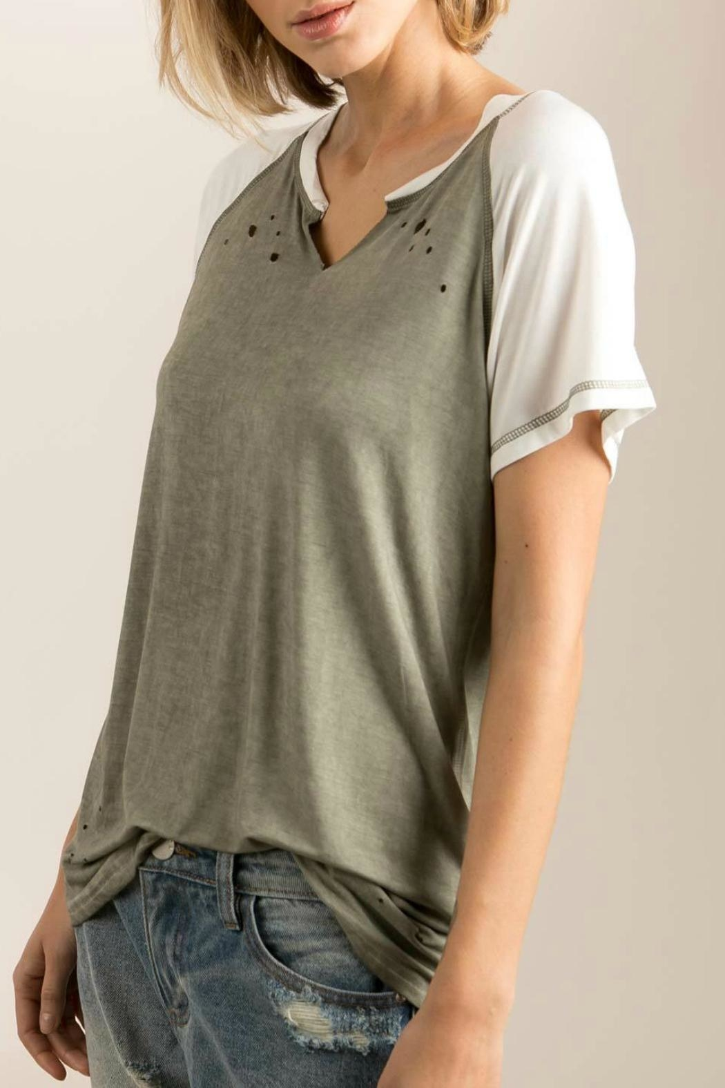 POL Raglan Distressed-T - Front Cropped Image