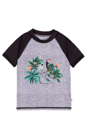 Deux Par Deux Raglan Rash Guard With Jungle & Sloth Print - Product Mini Image