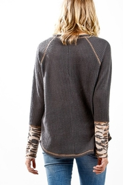 My Story Raglan Stitched Long Sleeve Waffle Top - Front full body