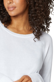 Liverpool  Raglan Sweater With Side Slit - Side cropped