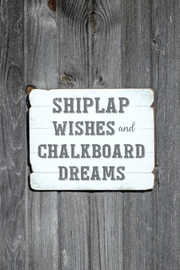 Ragon House Shiplap Wishes Sign - Product Mini Image
