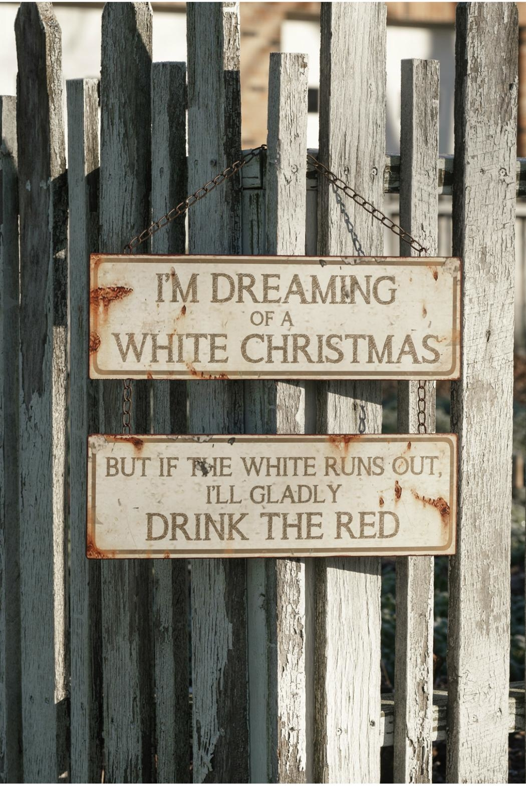 Ragon House White Christmas Sign - Front Cropped Image