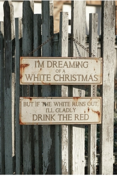 Ragon House White Christmas Sign - Alternate List Image