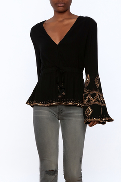 Shoptiques Product: Black Bell-Sleeve Top