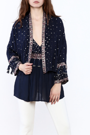 RahiCali Navy Embellished Jacket - Product Mini Image