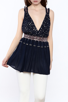 Shoptiques Product: Navy Sleeveless Top