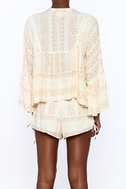 RahiCali Ivory Printed Peasant Blouse - Back cropped