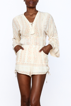 Shoptiques Product: Ivory Printed Peasant Blouse