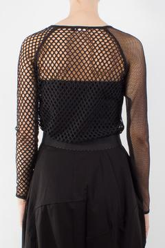 Raibu Asymmetric Mesh Top - Alternate List Image