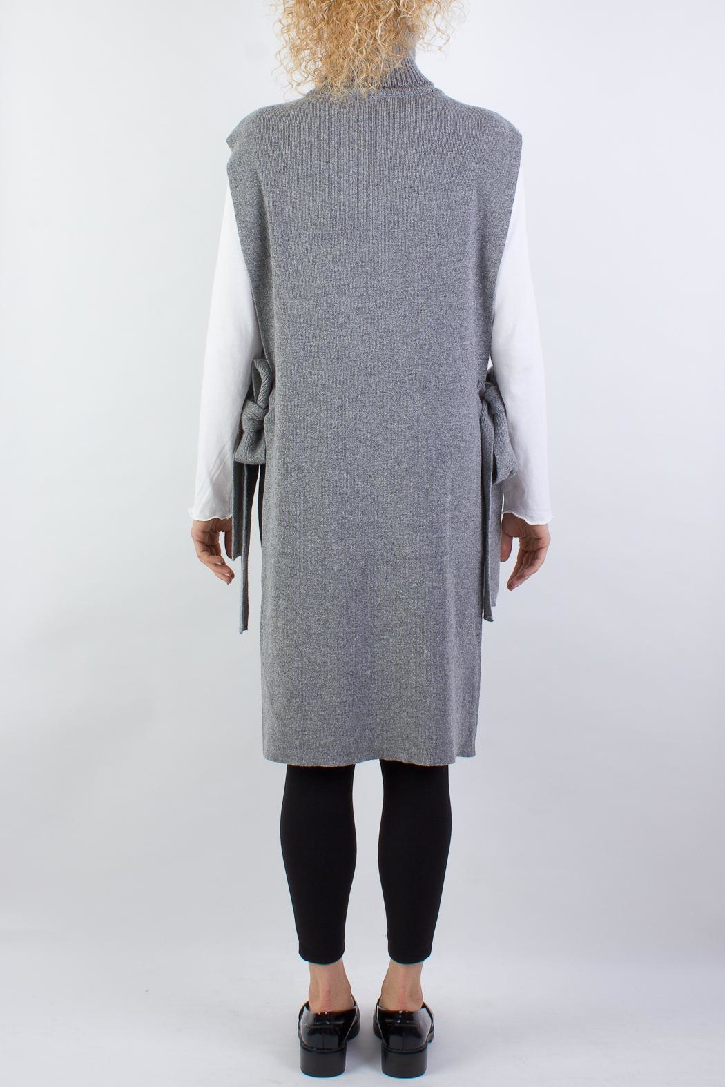 Raibu Knitted Cover Dress - Side Cropped Image
