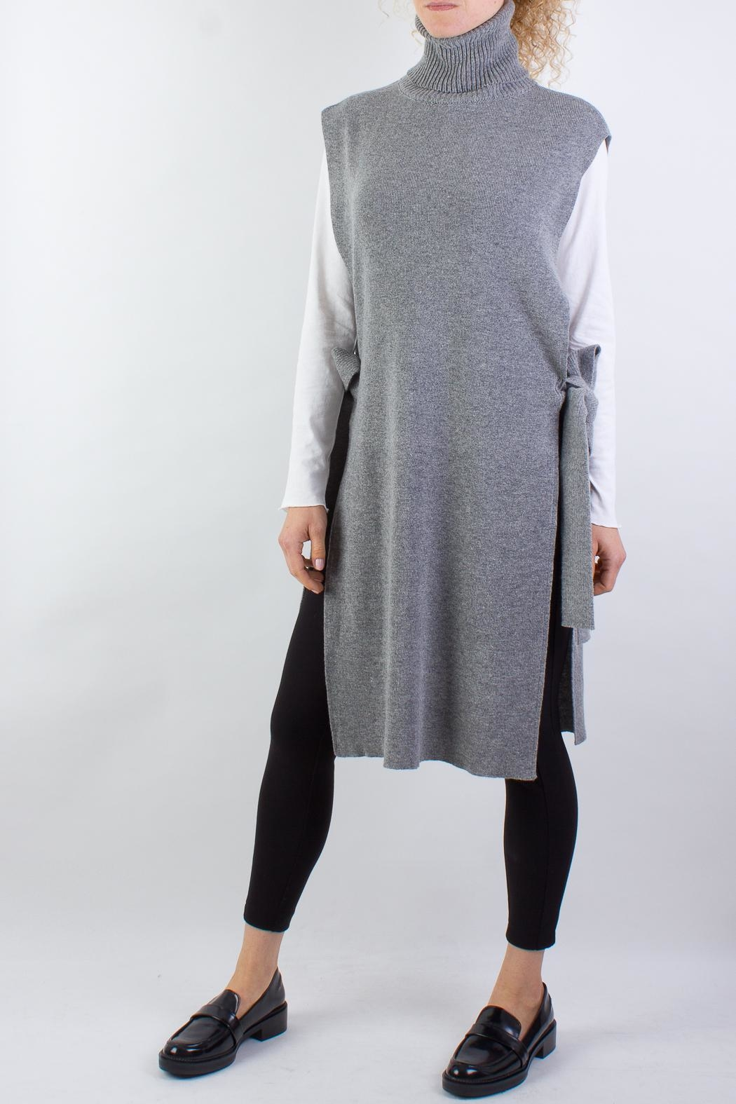 Raibu Knitted Cover Dress - Front Cropped Image