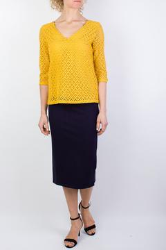 Shoptiques Product: Lace Mustard Top