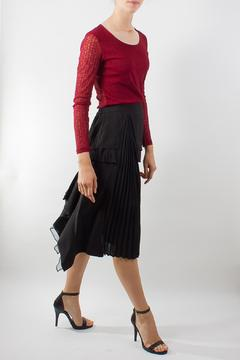 Raibu Pleated Asymmetric Skirt - Product List Image