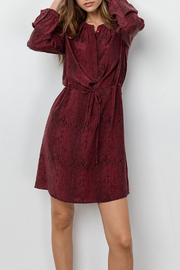 Rails RAILS BUTTON FRONT SILK DRESS - Front full body