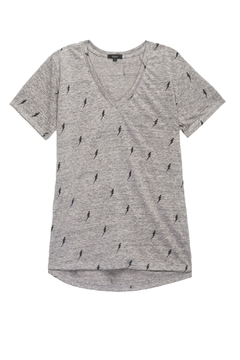 Shoptiques Product: Cara Grey Lightning Tee