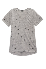 Rails Cara Grey Lightning Tee - Front cropped