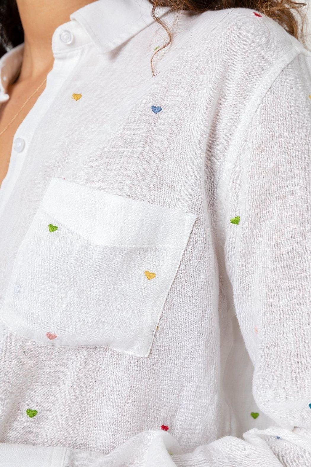 Rails Charli Embroidered Hearts - Side Cropped Image